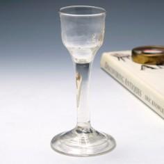 Plain Stem Georgian Wine Glass c1745