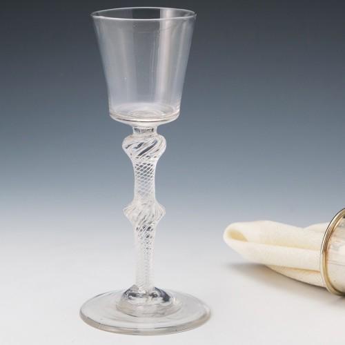 Bucket Bowl Air Twist Wine Glass c1750