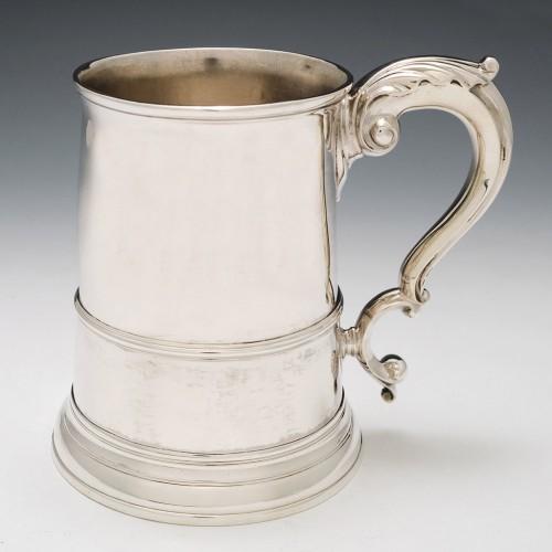 George III Sterling Silver Quart Tankard London 1761