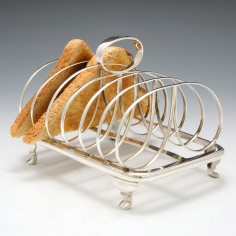 George IV Sterling Silver Six Division Toast Rack London 1824