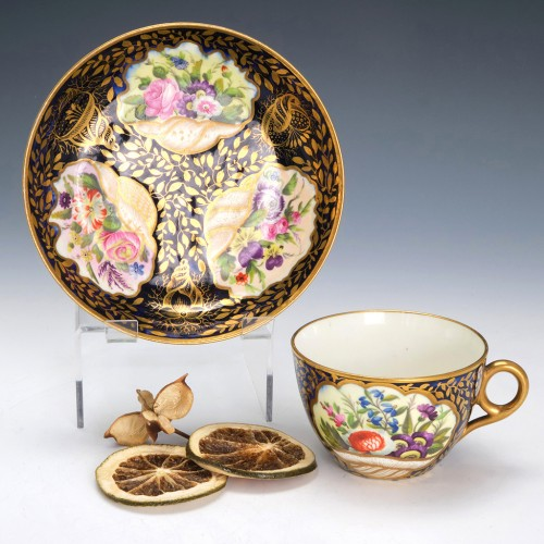 Early Minton Porcelain Pattern 780 Teacup and Saucer c1810