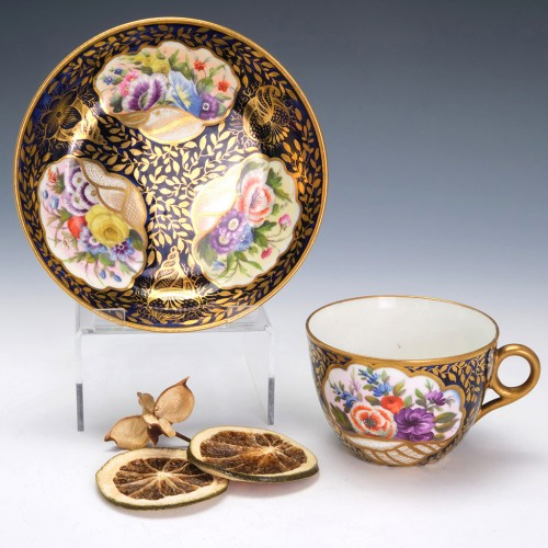Early Minton Teacup and saucer c1810 Pattern 780