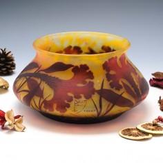 Daum Nancy Three Colour Cameo Vase c1910