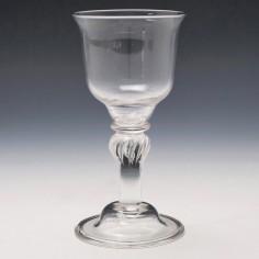 A Georgian Style Wine Glass c1930