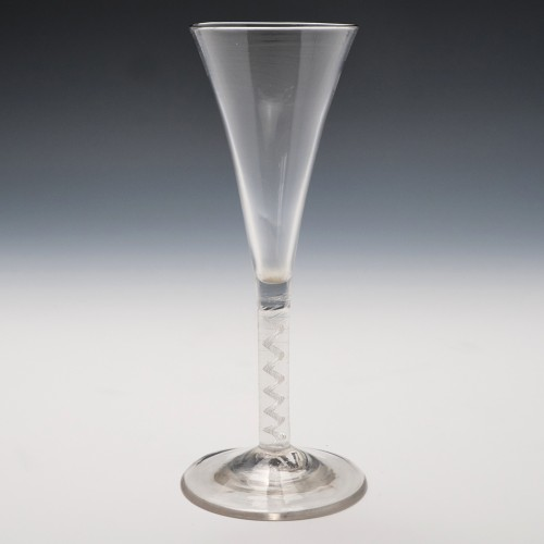 Georgian Mercury Twist Stem Wine Glass c1750