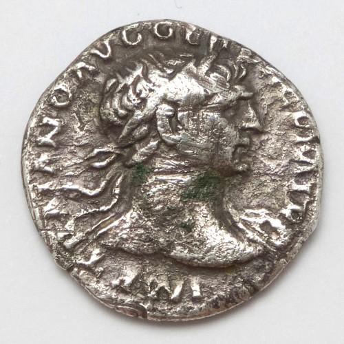 Roman Silver Dinarius of Emperor Trajan AD98-117