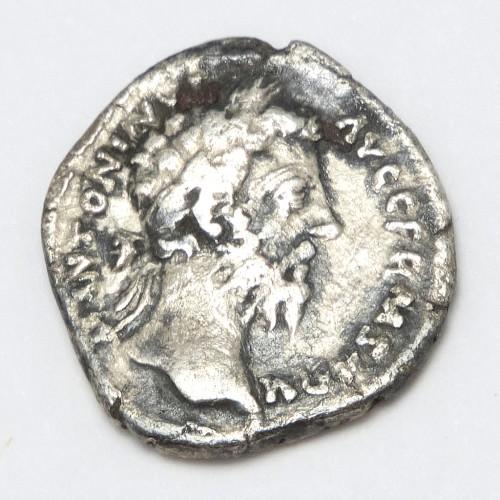 Silver Denarius of Roman Emperor Marcus Aurelius AD 161-180