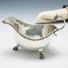 Celtic Design Silver Sauce Boat Birmingham 1936