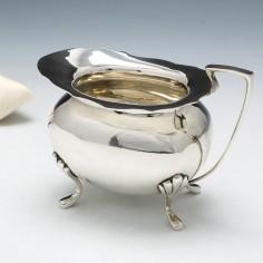 Edward VII Silver Cream Jug by Walker & Hall 1909