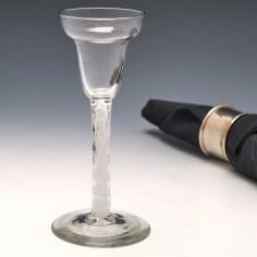 Pan Top Opaque Twist Cordial Glass c1750