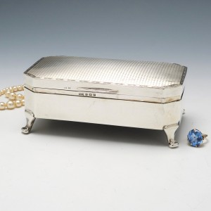 Sterling Silver Trinket Box Birmingham 1929