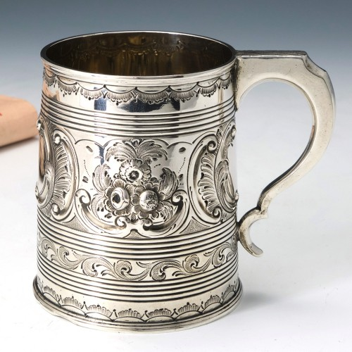George III Embossed Silver Mug London 1810