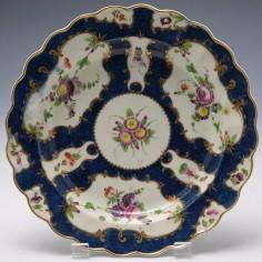 Worcester Porcelain Dessert Plate c1770