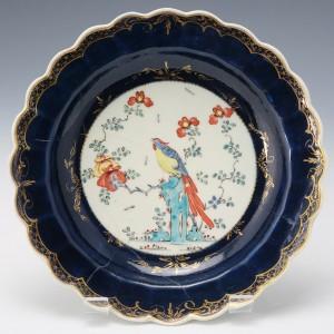 Worcester Porcelain Joshua Reynolds Pattern Dessert Plate c1770