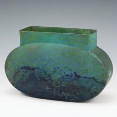 Daum Nancy Mottles Vase c1910