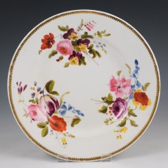 A Derby Robert Bloor and Company Porcelain Plate 1811-15