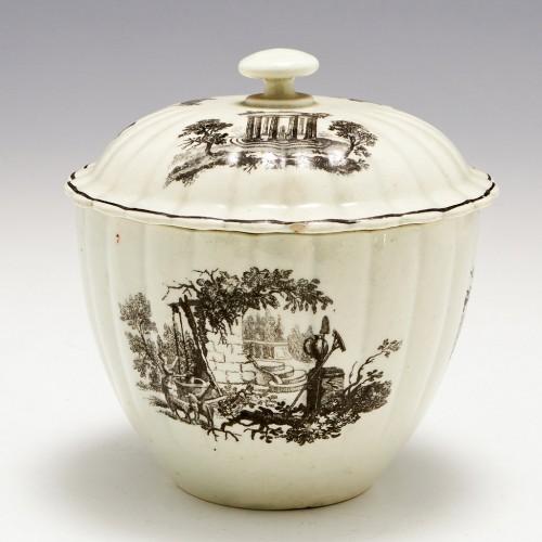 Printed On Glaze Worcester Porcelain Sucrier c1775