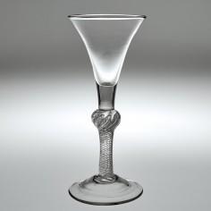 A Georgian Composite Stem Wine Glass c1745