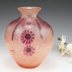 A Legras Art Deco Dahlias Vase c1925