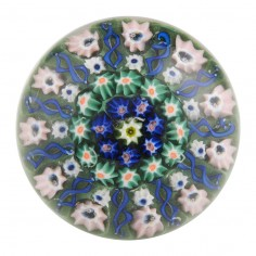 A Vasart Eleven Spoke Radial Concentric Paperweight c1950
