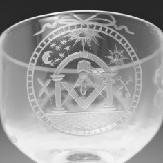 Masonic Engraved Rummer with Lemon Squeezer foot c1810