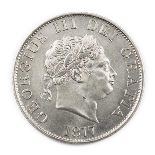 George III Silver Half-Crown 1817 Small Head Version