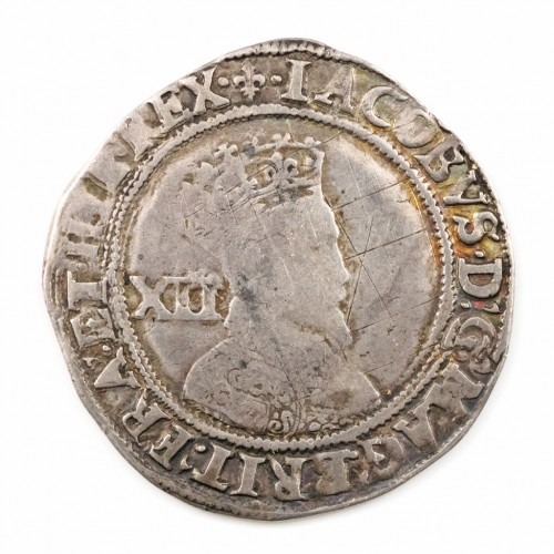 James I Silver Shilling  Lis Mint Mark Second Coinage, 1604-5