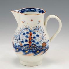A Liverpool James Pennington Porcelain Sparrow Beak Jug 1765-70