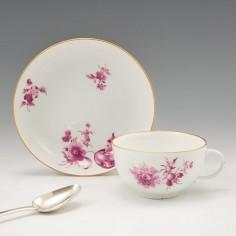 A Meissen Dot Period Porcelain Tea Cup and Saucer c1770