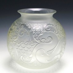 A Lalique Xian Dragon Vase