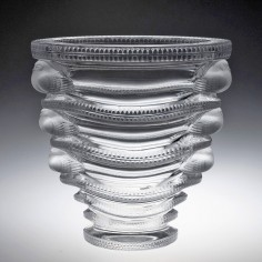 A Cristal Lalique 'Saint Marc' Clear and Frosted Vase