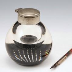 A Rare Caithness Art Glass Paperweight Inkwell c1970