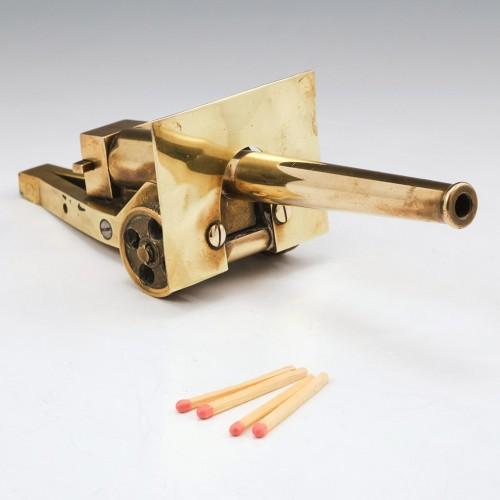 Trench Art Brass Model of a World War One Breech Loaded Field Gun