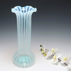 Tall Opaline Stripe Vase c1880