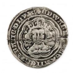 Edward III Silver Groat, Pre-Treaty Lis on Breast, 1354-1355