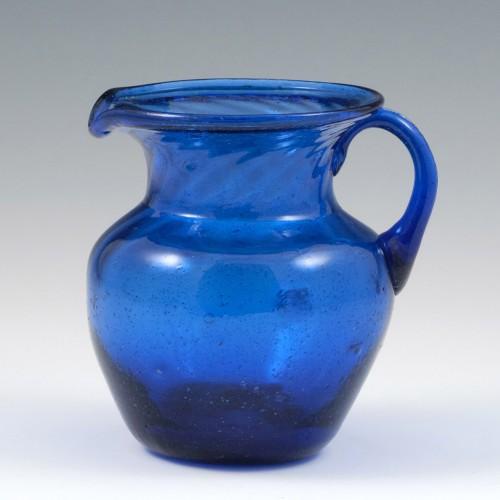 Mid 19th Century Blue Glass Cream Jug