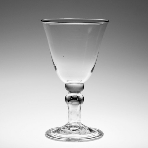 Early 19th Century Hollow Stem Wine Glass