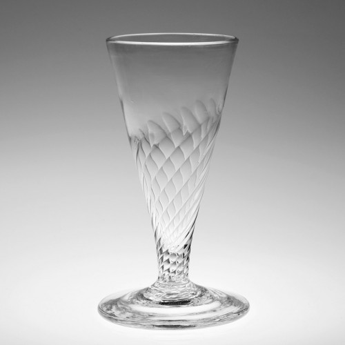 A Wrthen Moulded Ale Glass 1760