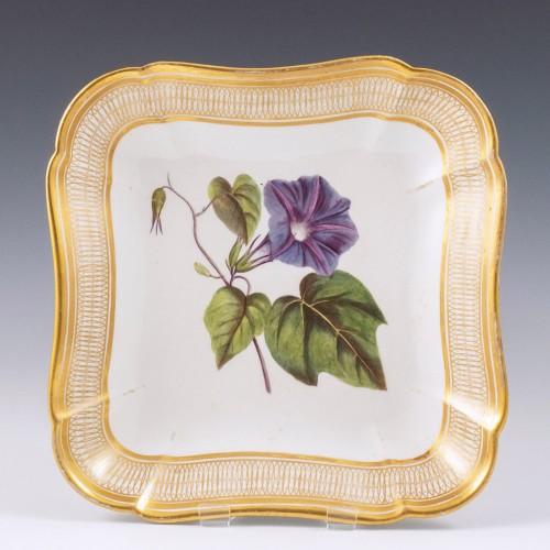A Coalport Botanical Porcelain Footed Dessert Dish 1805-10