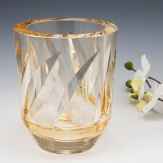 Daum Nancy Citrine Modernist Vase c1955