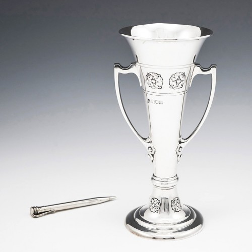 Arts And Crafts Sterling Silver Vase London 1907