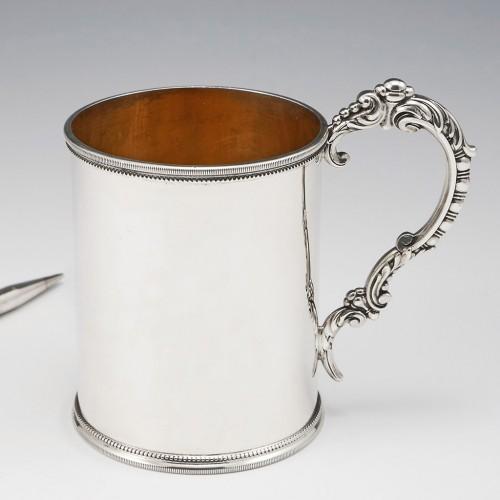A Sterling Silver Half Pint Tankard London 1875