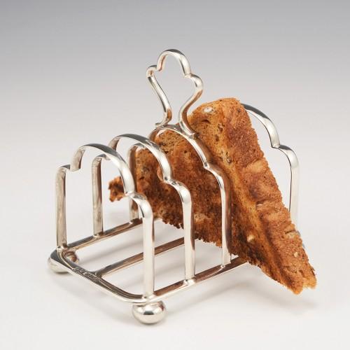 Glasgow Sterling Silver Five Bar Toast Rack 1913