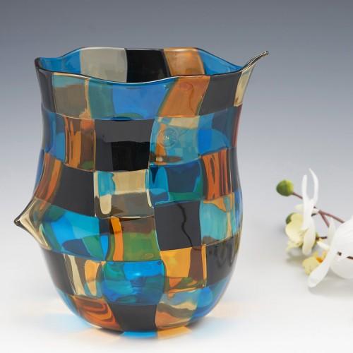 Fulvio Bianconi For Venini Pezzato Vase Designed 1951