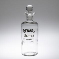 A Dewars Engraved And Gilded Licensed Trade Whisky Decanter Bottle c1890