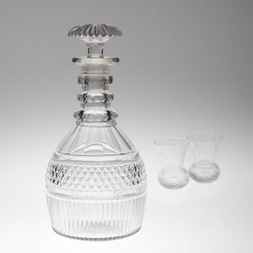 A Regency Period Prussian Cut Glass Decanter c1825