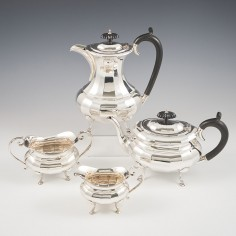 Sterling Silver Four Piece Tea and Coffee Service Birmingham 1926