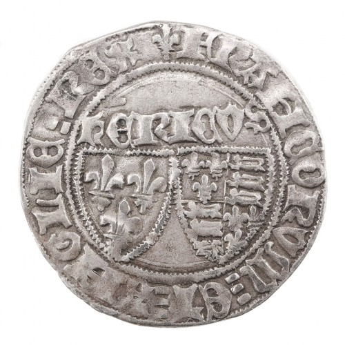Anglo-Gallic Henry VI  Silver Grand Blanc aux Ecus, 1422-1453