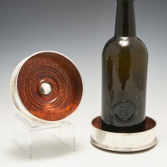 A Pair Sterling Silver Wine Coasters