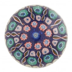 A Vasart Ten Spoke Radial Concentric Paperweight c1950